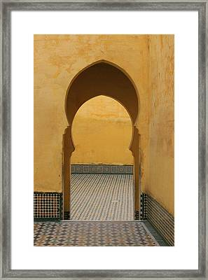 Framed Print featuring the photograph Key Hole Doors by Ramona Johnston