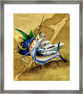 Key Largo Sailfish Framed Print by Dennis Friel