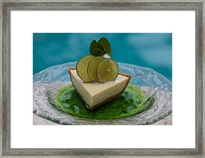 Key Lime Pie 25 Framed Print