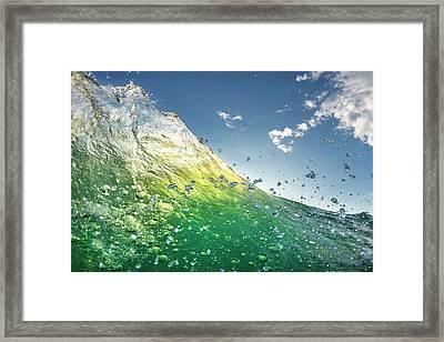 Key Lime Framed Print by Sean Davey