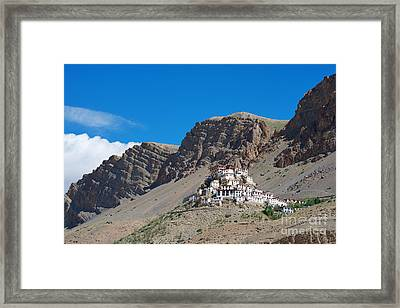 Framed Print featuring the photograph Key Monastery by Yew Kwang