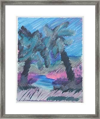 Key Palms Framed Print by Judy Loper