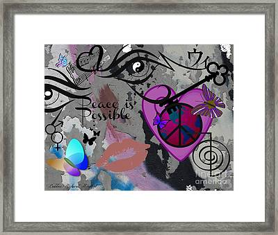 Key To Energy Of Peace  Framed Print