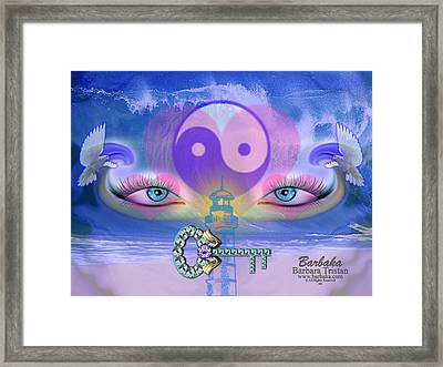 Framed Print featuring the digital art Hope Is The Key To Balance Love And Peace by Barbara Tristan