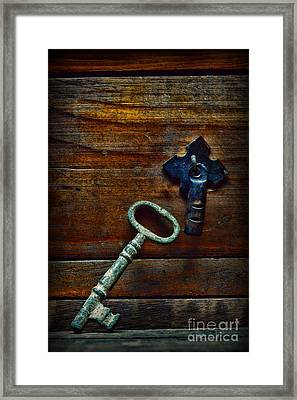 Key To My Heart Framed Print by Paul Ward