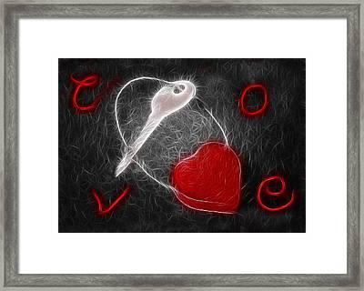 Key To The Heart Framed Print