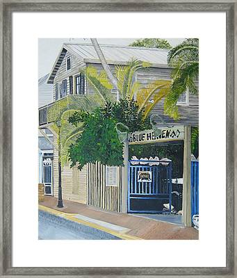 Key West Blue Heaven Framed Print