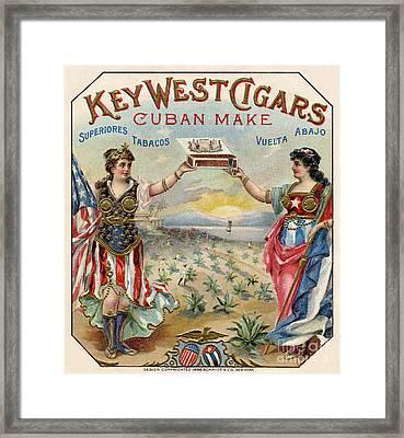 Key West Cigars Framed Print