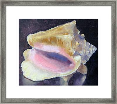 Key West Conch Framed Print by Lisa Boyd