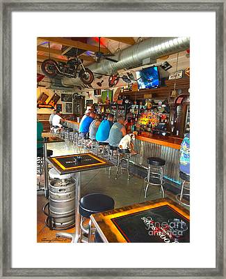 Key West Dog Framed Print by Carey Chen