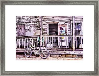 Key West Flower Shop Framed Print