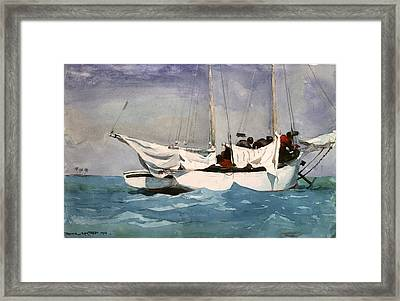 Key West Hauling Framed Print by Winslow Homer