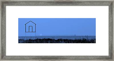Key West House Boat Framed Print by Ed Smith