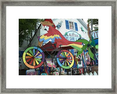 Key West Kites Framed Print