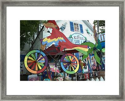 Key West Kites Framed Print