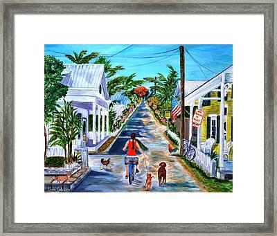 Key West Lane Framed Print