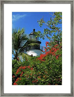 Key West Lighthouse Framed Print by Frank Mari
