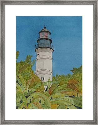 Key West Lighthouse Framed Print by John Edebohls