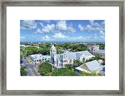 Framed Print featuring the photograph Key West by Olga Hamilton