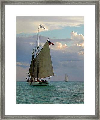 Framed Print featuring the photograph Key West Sail by Gordon Beck