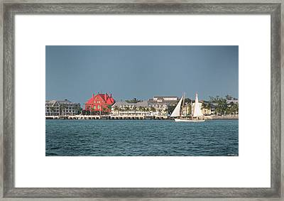 Key West Shoreline Framed Print by Frank Mari