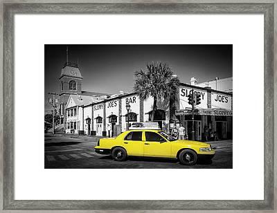 Key West Sloppy Joe's Bar And Taxi Framed Print