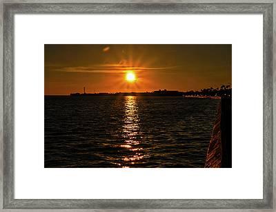 Key West Sunset 34 Framed Print by Bob Slitzan