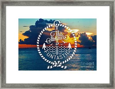 Key West Sunset Framed Print by Chris Andruskiewicz