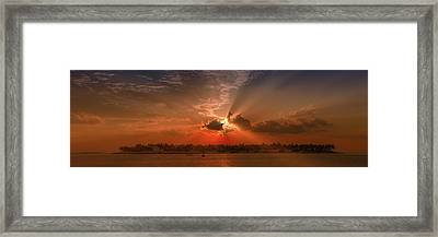 Key West Sunset Panoramic Framed Print