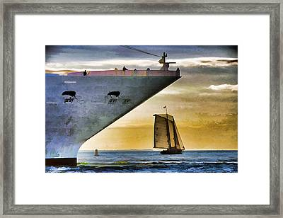 Key West Sunset Sail Framed Print by Dennis Cox WorldViews