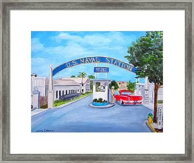 Key West U.s. Naval Station Framed Print