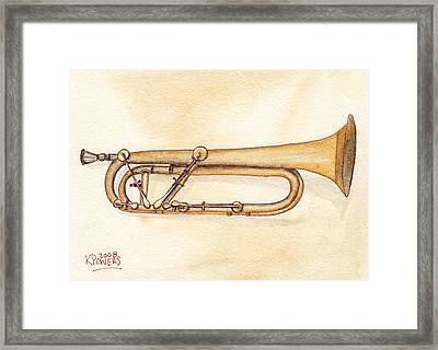 Keyed Trumpet Framed Print by Ken Powers