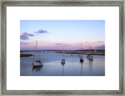Keyhaven Salt Marshes - England Framed Print