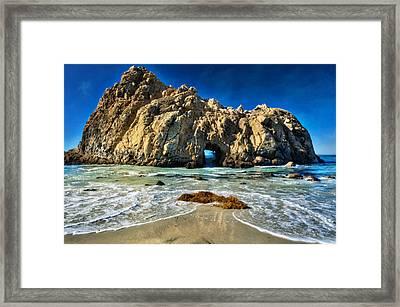 Keyhole Rock At Pheiffer Beach #13 - Big Sur, Ca Framed Print