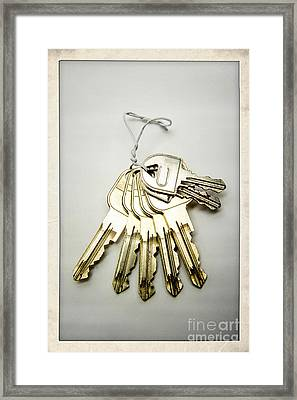 Keyring Framed Print by Bernard Jaubert