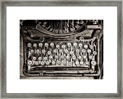 Keys Bw Framed Print by Heather Applegate