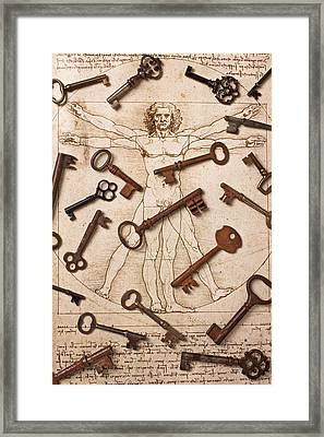 Keys On Artwoork Framed Print by Garry Gay