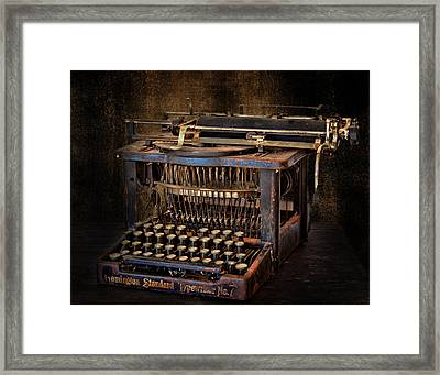 Keys To Words Framed Print by David and Carol Kelly
