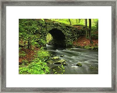 Keystone Bridge Quabbin Reservoir Framed Print by John Burk