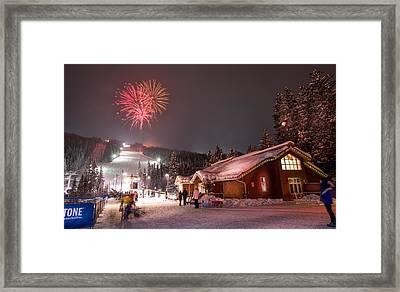 Keystone Resort Fireworks Framed Print by Michael J Bauer