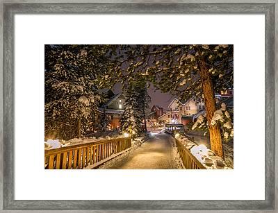 Keystone Village Bridge Framed Print by Michael J Bauer