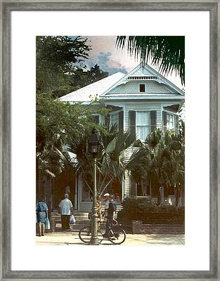 Framed Print featuring the photograph Keywest by Steve Karol