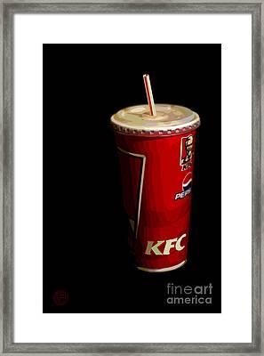 Kfc Cup Framed Print by Helena M Langley