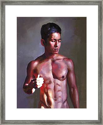 Khanh In Late-afternoon Light Framed Print by Douglas Simonson