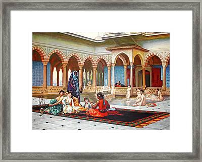 Khanito Harem Framed Print by Munir Alawi