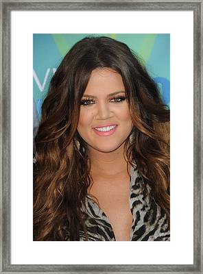 Khloe Kardashian At Arrivals For 2011 Framed Print by Everett