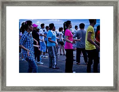 Khmer Aerobics Framed Print