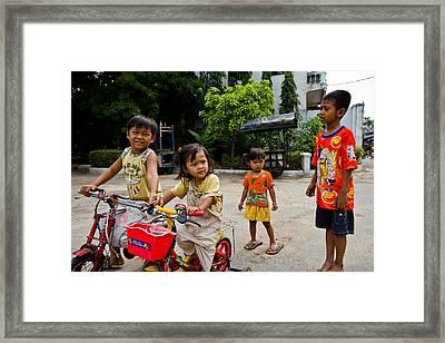 Khmer Kids Framed Print