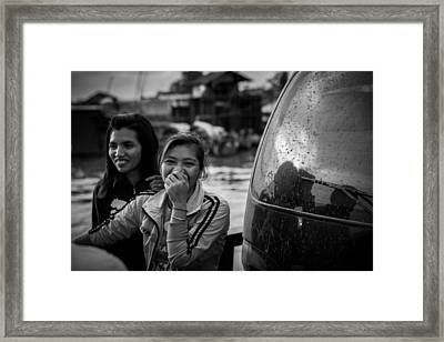 Khmer Laughter Framed Print