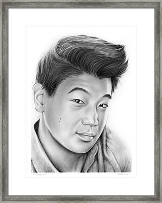 Ki Hong Lee Framed Print by Greg Joens